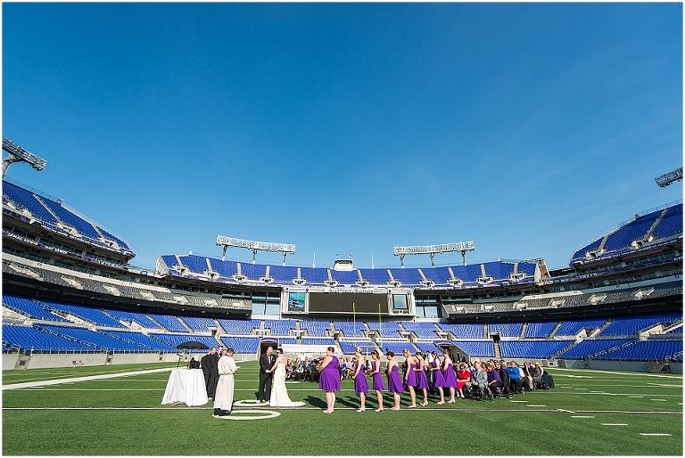 Jaime Michael Ravens M T Bank Stadium Wedding Maryland