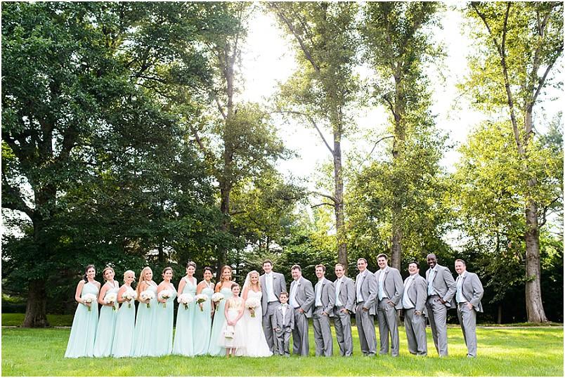 Grey rock mansion wedding