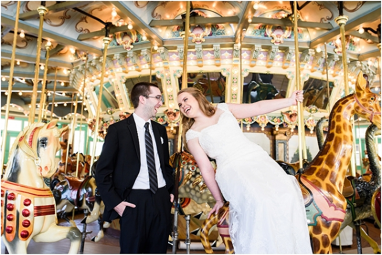 Glen Echo Park Wedding : Kristen + Ethan - Lauren C Photography